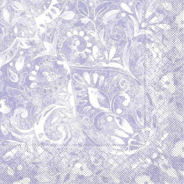 Tissue Serviette Felicia in Taupe, 33 x 33 cm, 100 Stück - Mank