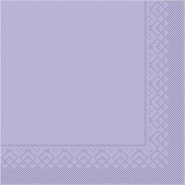 Tissue Serviette Lila, 25 x 25 cm, 100 Stück - Mank