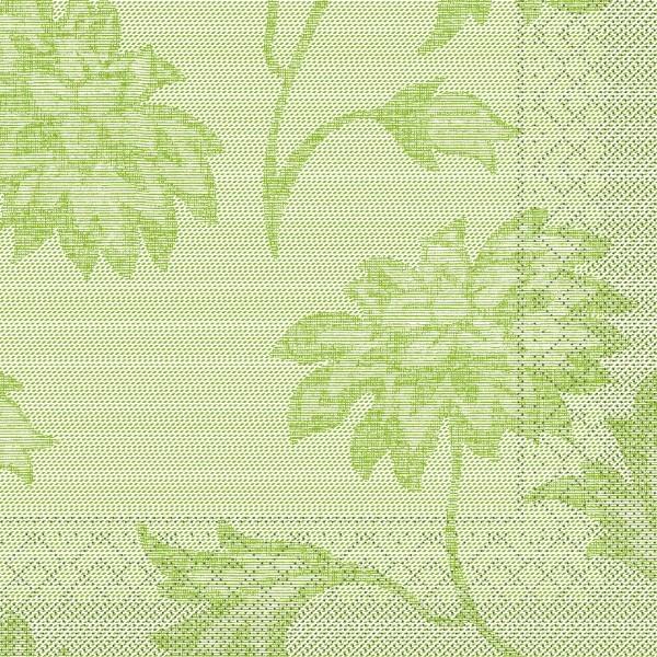 Tissue Serviette Lisboa in Schilfgrün, 33 x 33 cm, 100 Stück - Mank