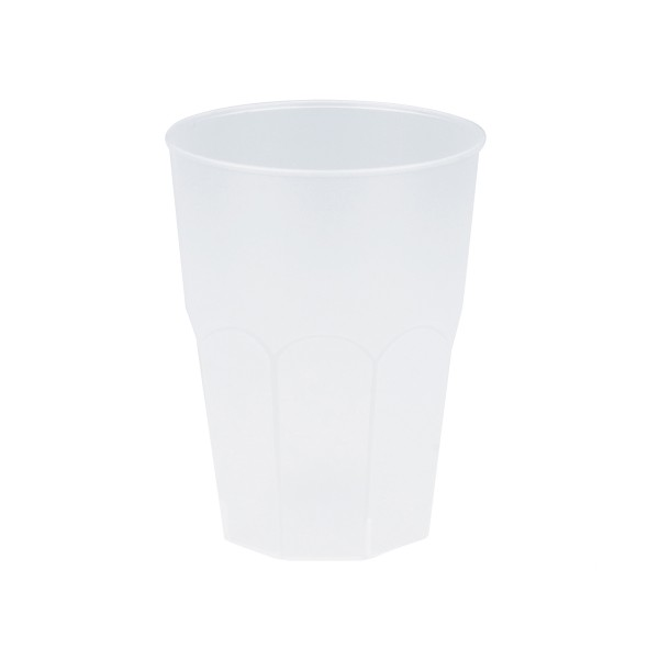 Mehrweg-Cocktailglas Transparent-gefrostet 420ml aus Plastik, 6 Stück - Mank