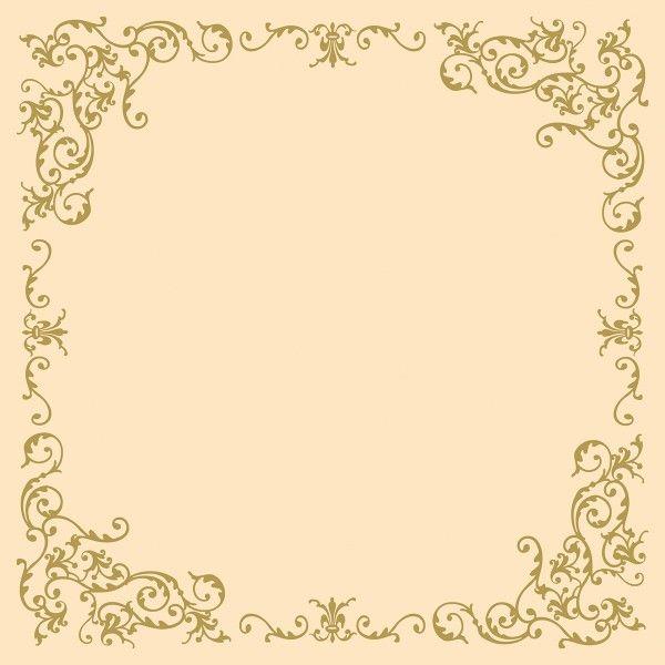 Airlaid Tischdecke Pomp in Creme-Gold, 80 x 80 cm, 20 Stück - Mank