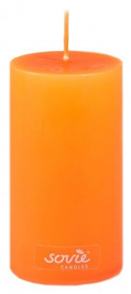 Stumpenkerze Orange, Ø50x100 mm - Brenndauer ca. 28 Std.