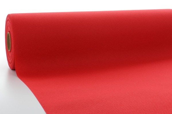 Airlaid Tischdeckenrolle Rot, 120 cm x 25 m , 1 Stück - Mank