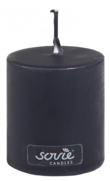 Stumpenkerze Schwarz, Ø50x60 mm