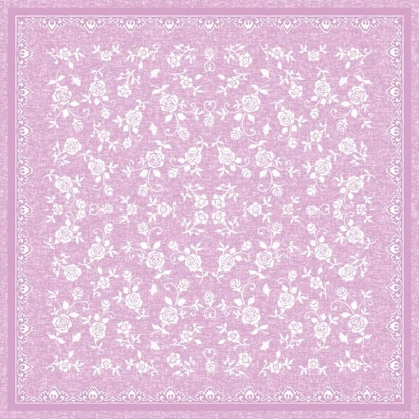 Airlaid Tischdecke Lace in Rosa, 80 x 80 cm, 20 Stück - Mank