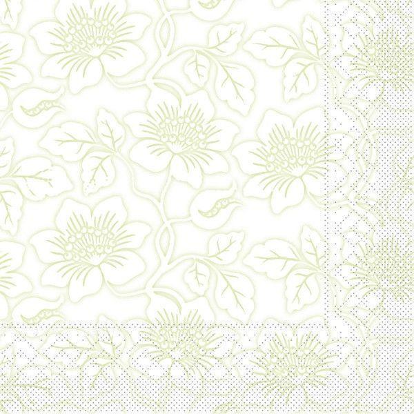 Tissue Serviette Hedda in Hellgrün, 40 x 40 cm, 100 Stück - Mank