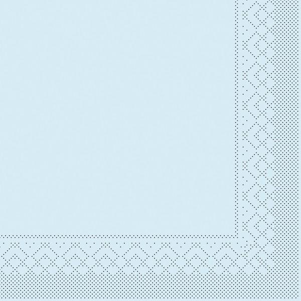 Tissue Serviette Hellblau, 25 x 25 cm, 100 Stück - Mank