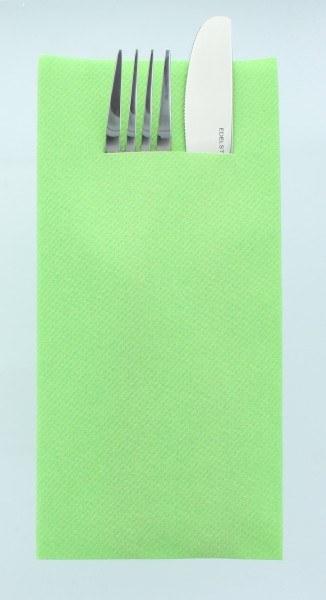 Airlaid Besteckservietten Apfelgrün, 40 x 40 cm, 75 Stück - Mank