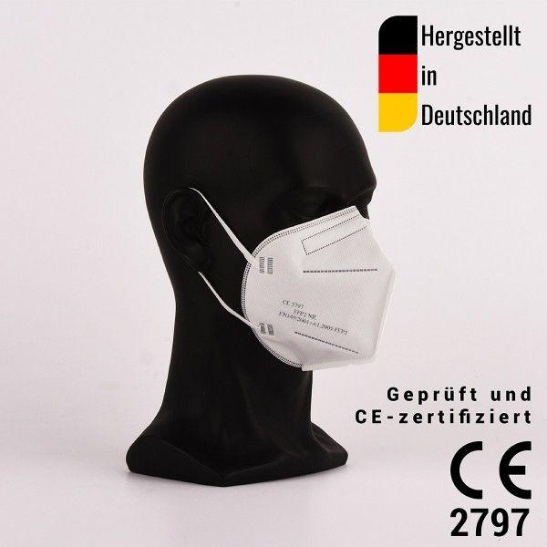 FFP2 Halbmasken, zertifiziert CE2797 - hergestellt in Deutschland - 1000 Stück- Atemschutzmaske