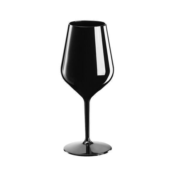 Mehrweg-Weinglas Schwarz 470ml aus TT, 1 Stück - Mank