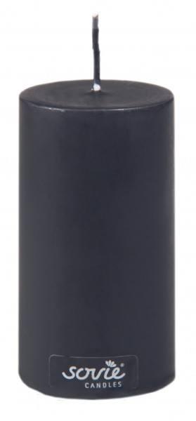 Stumpenkerze Schwarz, Ø50x100 mm