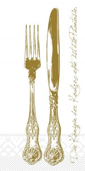 Tissue Serviette Heidelberg in Goldbraun, 40 x 40 cm, 1/8 Falz, 125 Stück - Mank