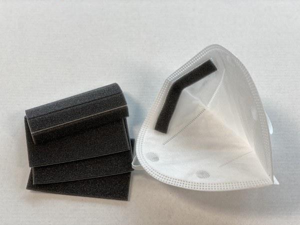Nasenstreifen aus Schaumstoff 10 Stück 1 x 9 cm, Nasenbrücken, Pads, Antibeschlag