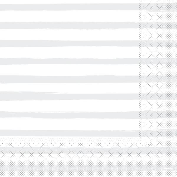 Tissue Serviette Bea in Grau, 40 x 40 cm, 100 Stück - Mank