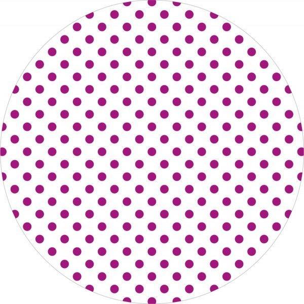 Deckchen Antonia-Punkte in Beere, Tissue mit Folienbeschichtung, 90x90 mm, 250 Stück - Mank