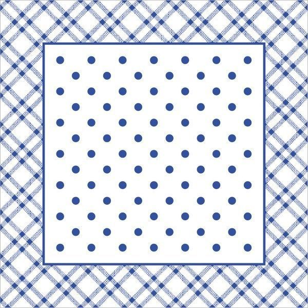 Deckchen Antonia in Blau, Tissue mit Folienbeschichtung, 90x90 mm, 250 Stück - Mank