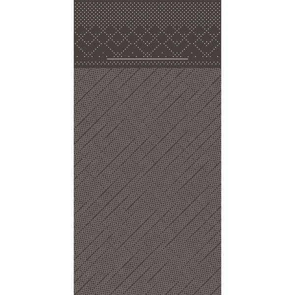 Tissue Deluxe Besteckservietten Braun, 40 x 40 cm, 75 Stück - Mank