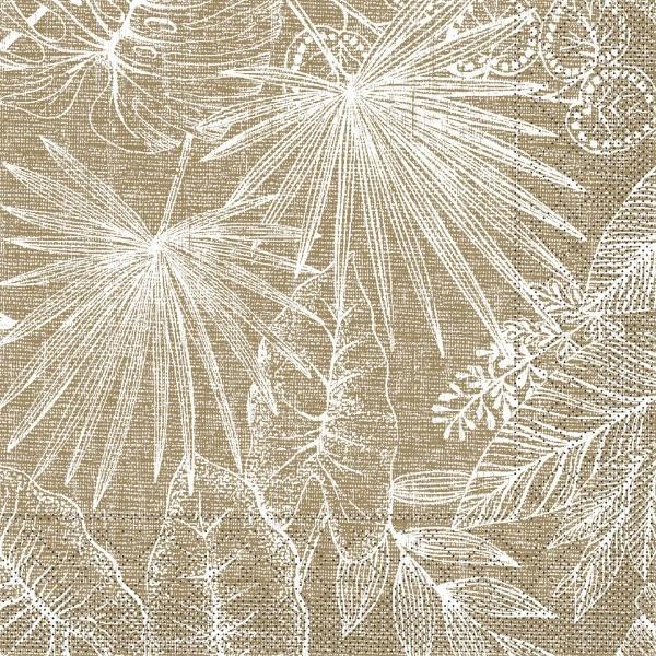 Tissue Serviette Kona in Braun, 40 x 40 cm, 100 Stück - Mank