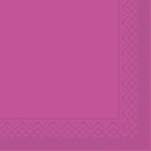 Tissue Serviette Violett, 25 x 25 cm, 100 Stück - Mank