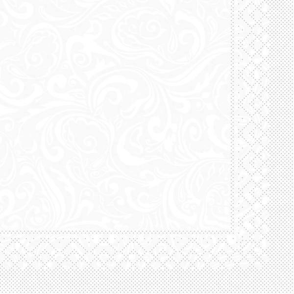 Tissue Serviette Lias in Weiß, 40 x 40 cm, 100 Stück - Mank