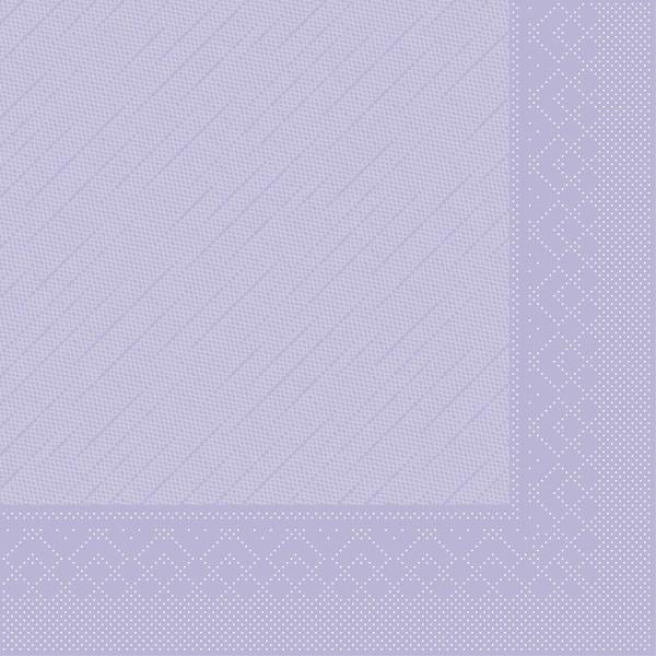 Tissue Deluxe Serviette Lila, 40 x 40 cm, 50 Stück - Mank