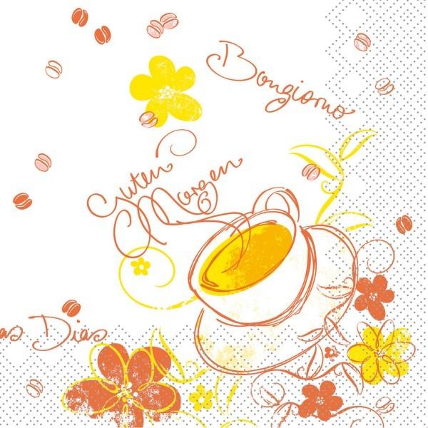 Tissue Serviette Sunny, 25 x 25 cm, 100 Stück - Mank