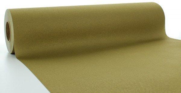 Airlaid Tischläufer Gold, 40 cm x 24 m , 1 Stück - Mank