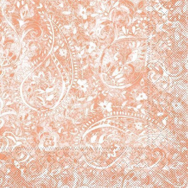 Tissue Serviette Felicia in Terrakotta, 40 x 40 cm, 100 Stück - Mank