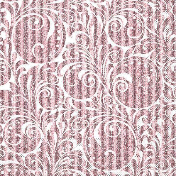 Tissue Serviette Jordan in Bordeaux, 33 x 33 cm, 100 Stück - Mank