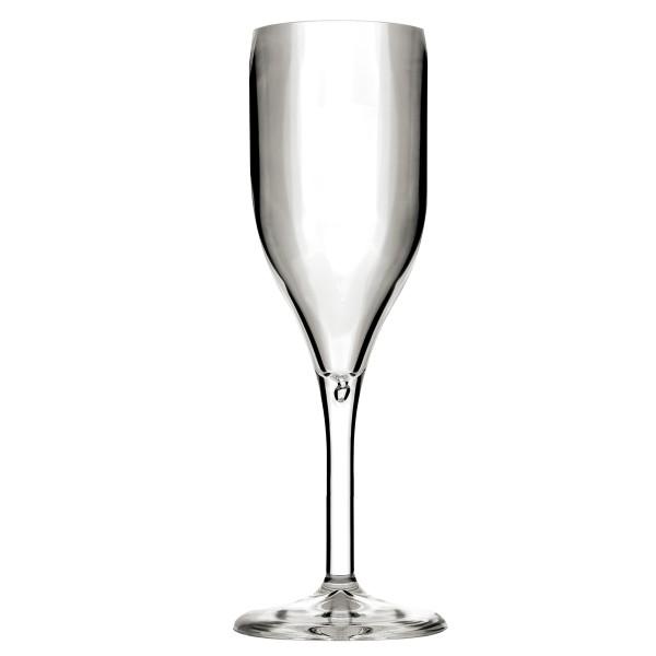 Mehrweg-Sektglas Transparent 150ml aus SAN, 1 Stück - Mank