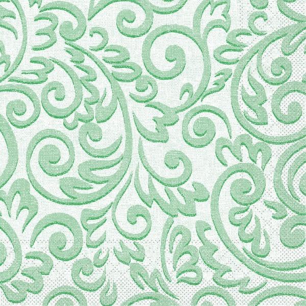 Tissue Serviette Bosse in Grün, 33 x 33 cm, 100 Stück - Mank
