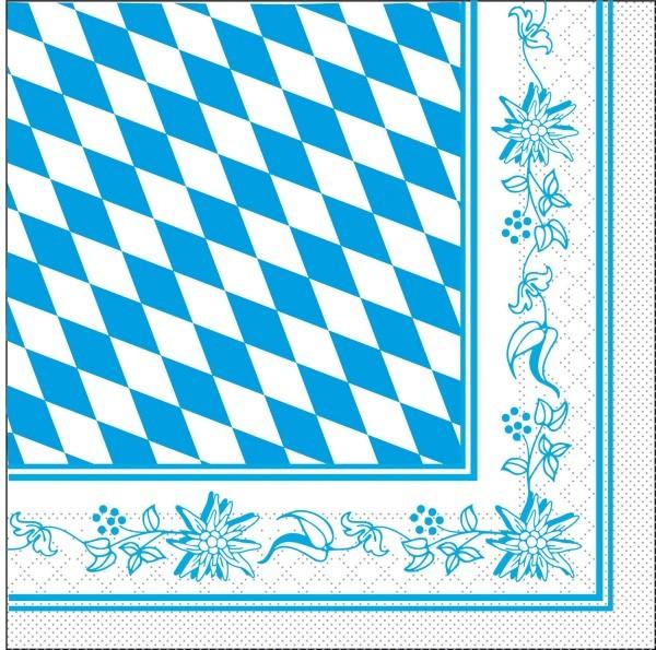 Tissue Serviette Bayern 33 x 33 cm, 100 Stück - Mank
