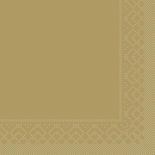 Tissue Serviette Gold, 40 x 40 cm, 100 Stück - Mank