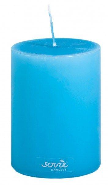 Stumpenkerze Aquablau, Ø70x100 mm