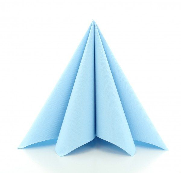 PG-Airlaid Serviette Hellblau, 40 x 40 cm, 50 Stück