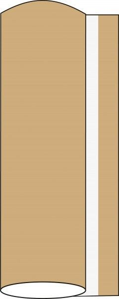 Airlaid Tischdeckenrolle Naturbraun, 120 cm x 40 m, 1 Stück - Mank