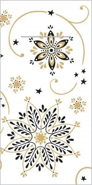 Airlaid Besteckservietten Cristal in Schwarz-Gold, 40 x 40 cm, 75 Stück - Mank