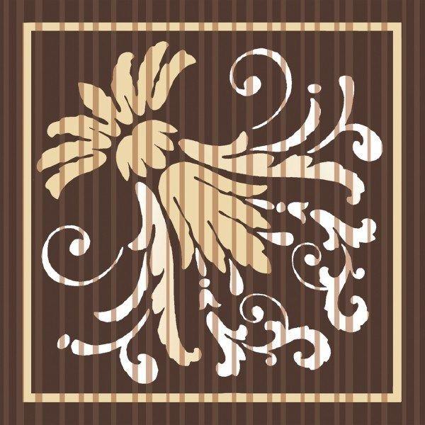 Deckchen Letizia in Braun, Tissue 9-lagig, 90 x 90mm, 250 Stück - Mank