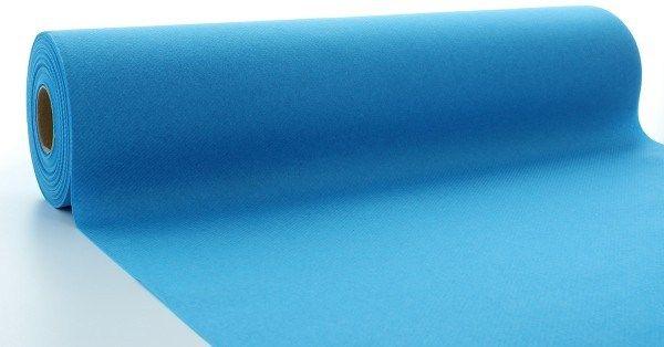 Airlaid Tischläufer Aquablau, 40 cm x 24 m , 1 Stück - Mank