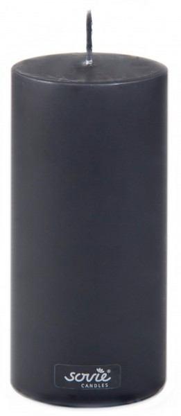 Stumpenkerze Schwarz, Ø70x150 mm