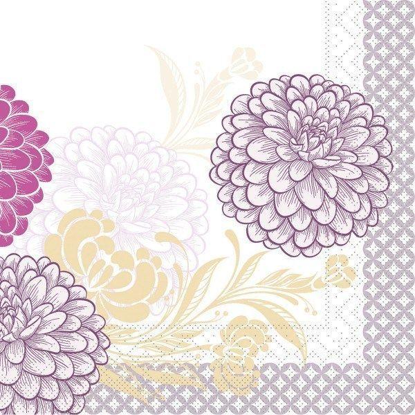 Tissue Serviette Clarissa in Violett, 40 x 40 cm, 100 Stück - Mank