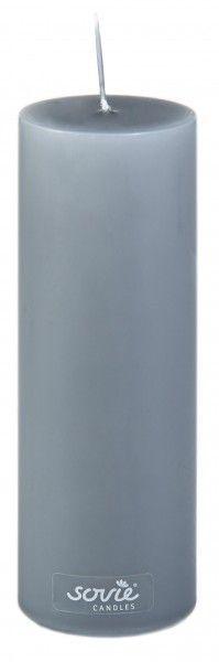 Stumpenkerze Grau, Ø50x150 mm