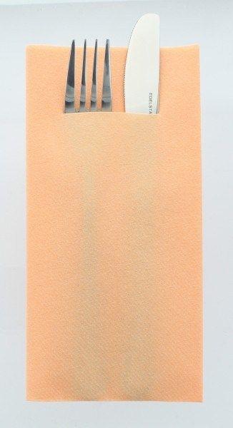 Airlaid Besteckservietten Aprikot, 40 x 40 cm, 75 Stück - Mank