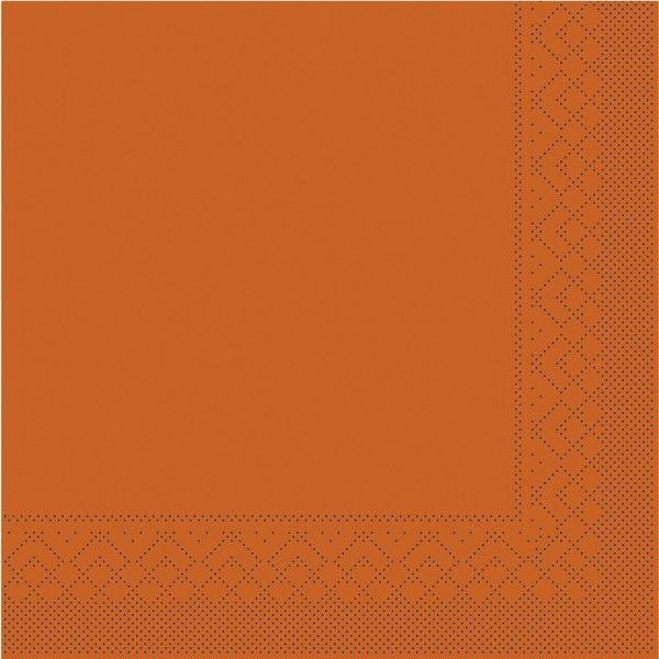 Tissue Serviette Terrakotta, 33 x 33 cm, 100 Stück - Mank