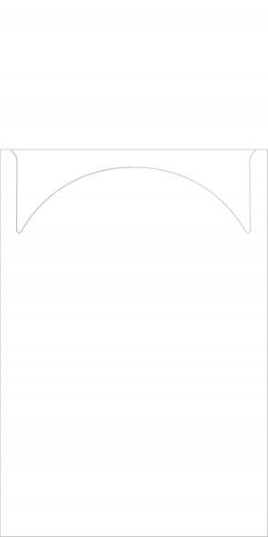 Airlaid Eis-Serviette in weiß, 22 x 19 cm 1/8-Falz, 100 Stück - Mank