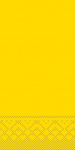 Tissue Serviette Gelb, 33 x 33 cm, 100 Stück - Mank