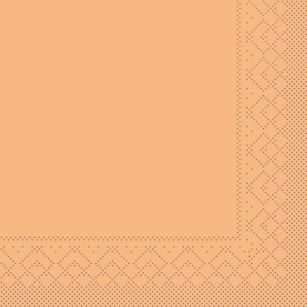 Tissue Serviette Aprikot, 33 x 33 cm, 100 Stück - Mank