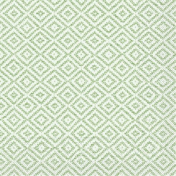 Tissue Serviette Lagos-Base in Grün, 40 x 40 cm, 100 Stück - Mank