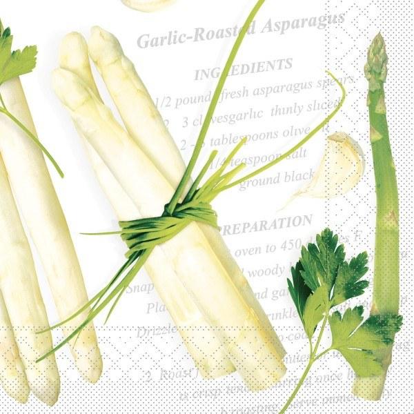 Tissue Serviette Asparagus, 40 x 40 cm, 100 Stück - Mank