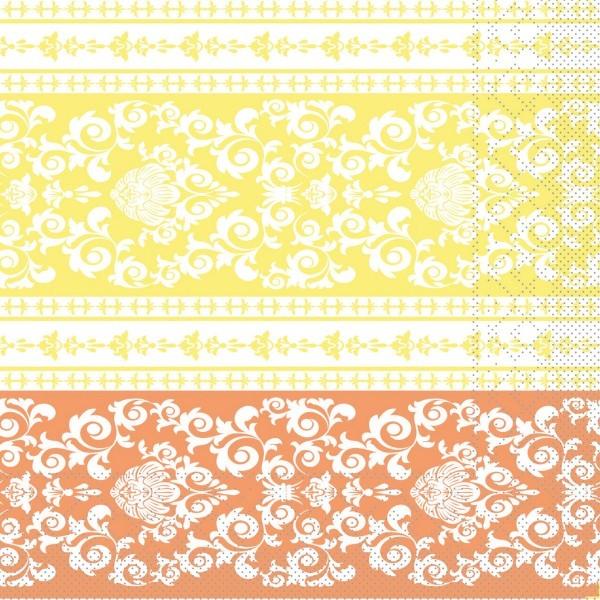 Tissue Serviette Pascal in Aprikot-Vanille, 33 x 33 cm, 100 Stück - Mank